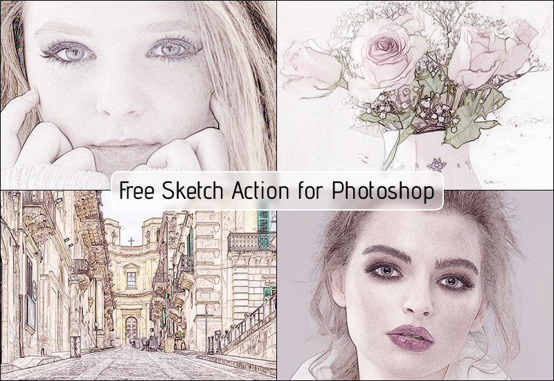 Free Sketch Action for Photoshop
