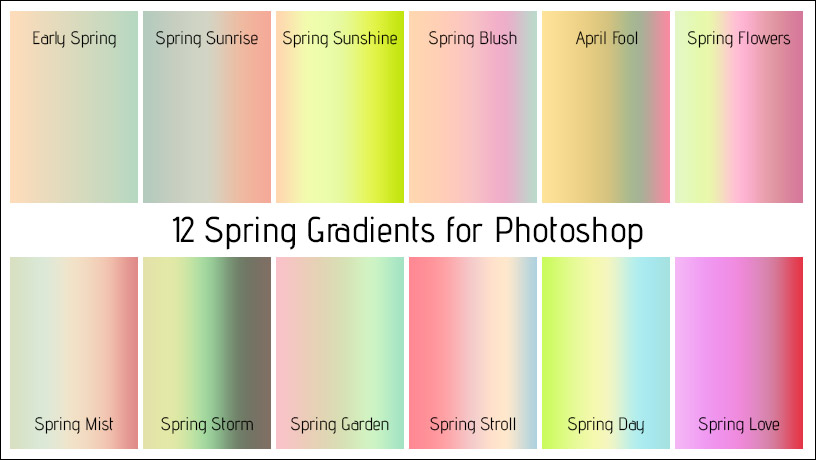 Spring Gradients for Photoshop Free Download