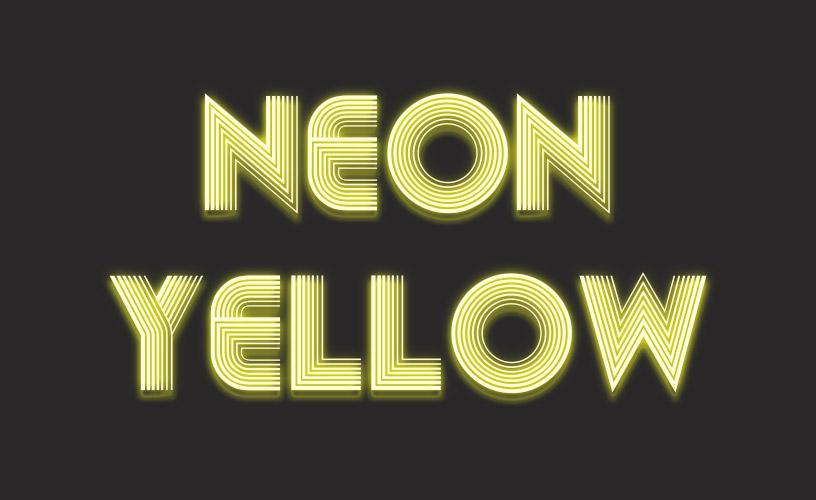 Text Styles 1 - Neon Yellow