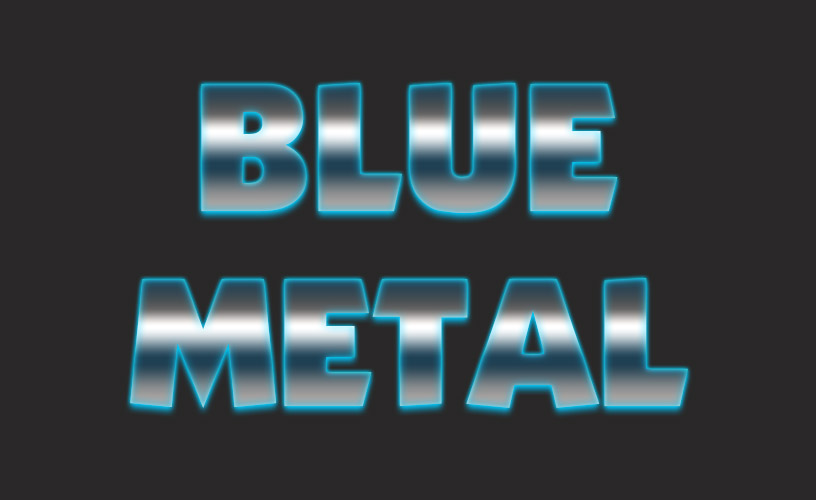 Text Styles 1 - Blue Metal