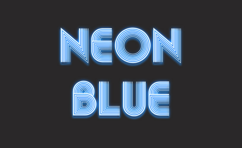 Text Styles 1- Neon Blue