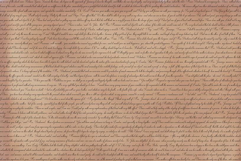 Classic Text Backgrounds - Sense and Sensibility