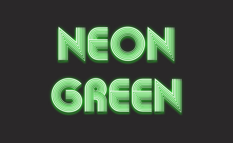 Text Styles 1 - Neon Green