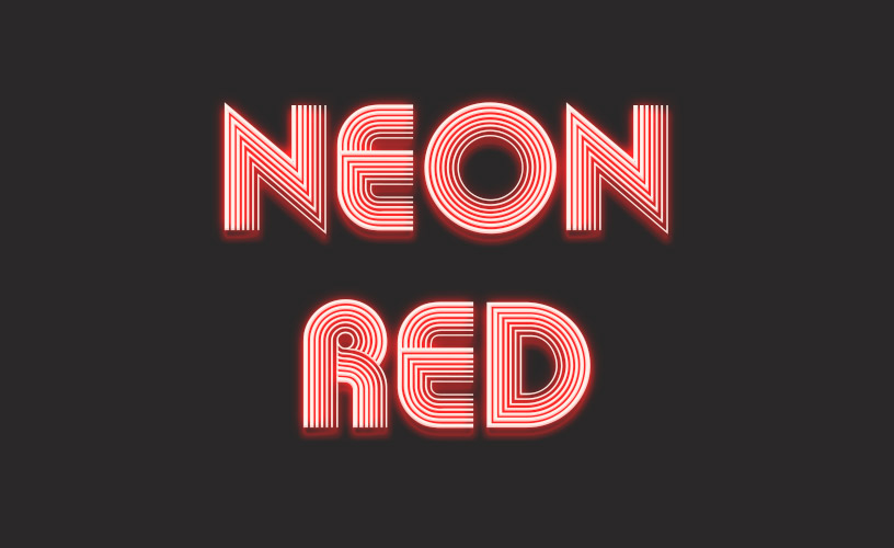 Text Styles 1 - Neon Red