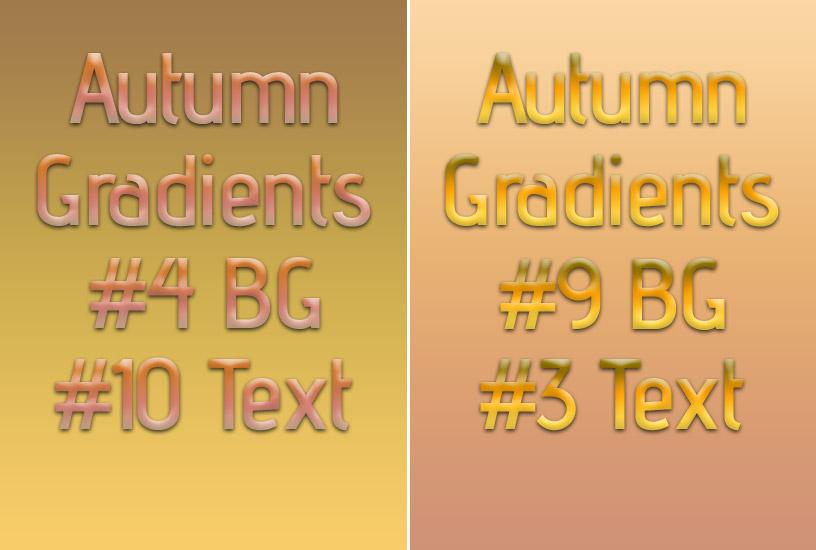 Autumn Gradients Text