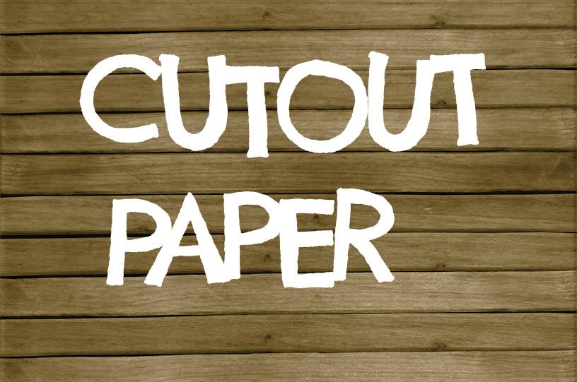 Cutout Paper Text - Letters