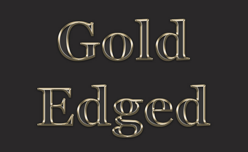 Text Styles 1 - Gold Edged