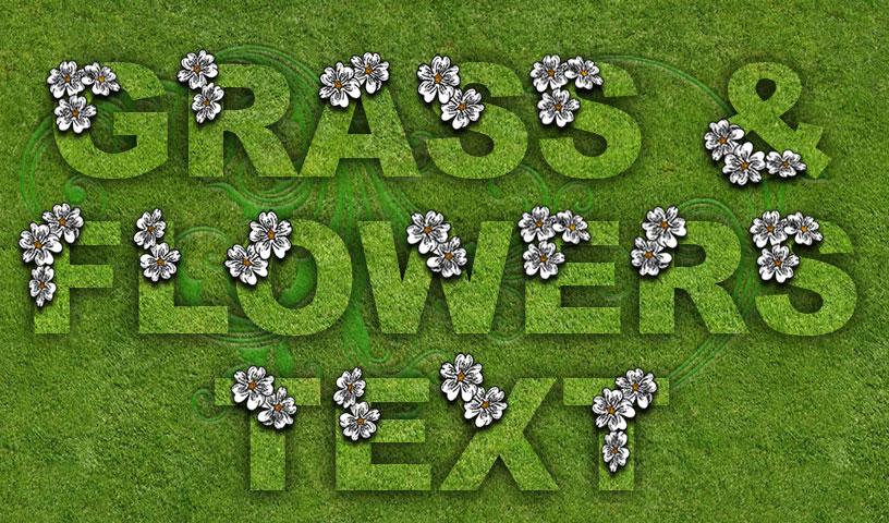 Grass & Flowers Text