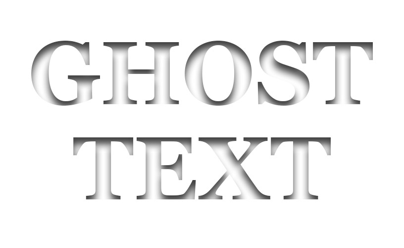 Text Styles 1 - Ghost Text