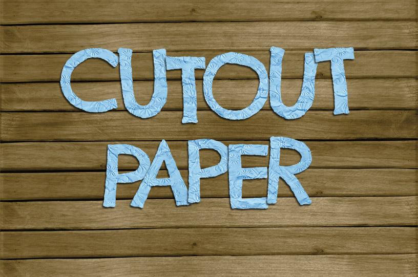 Cutout Paper Text