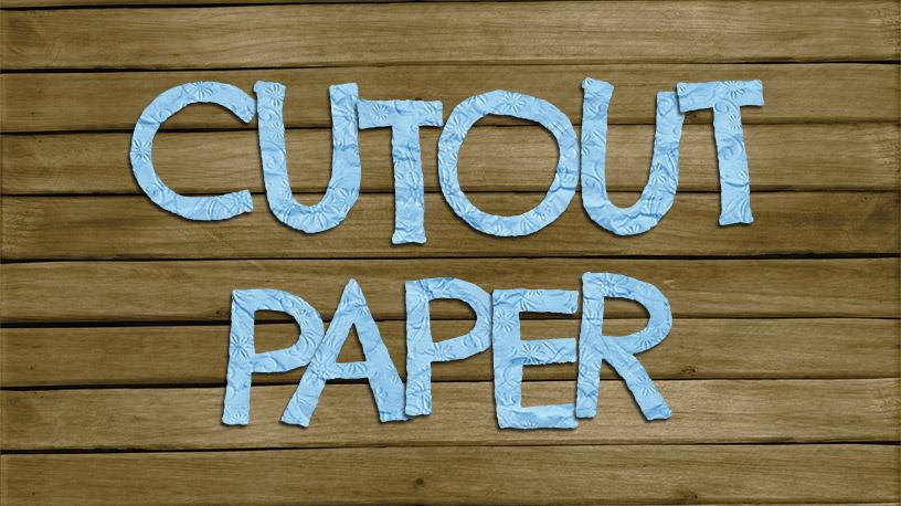 Cutout Paper Text Effect Photoshop Tutorial