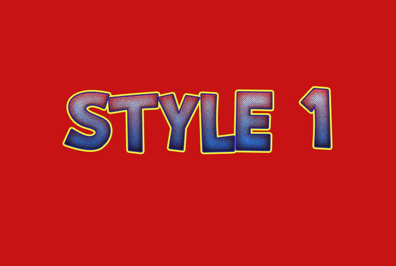 Comic Styles - Style 1