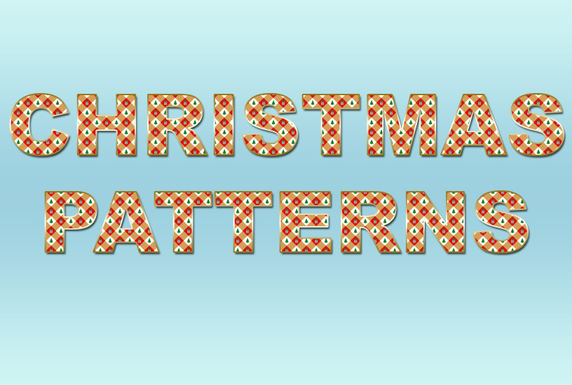 Christmas Patterns - Text Effect