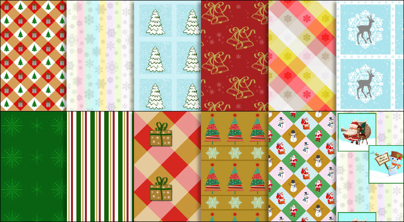 Christmas Patterns for Photoshop
