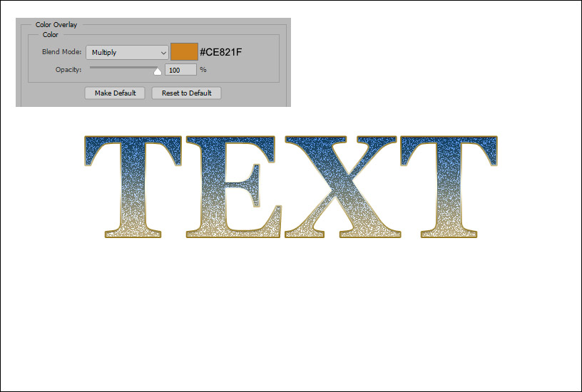 Sparkly Text Effect - Example 1