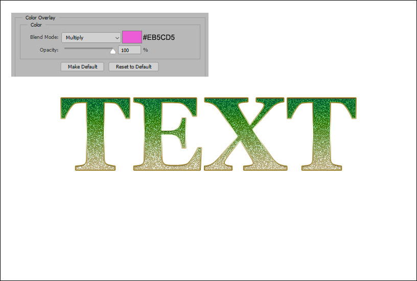 Sparkly Text Effect - Example 2