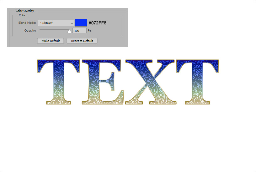 Sparkly Text Effect - Example 4