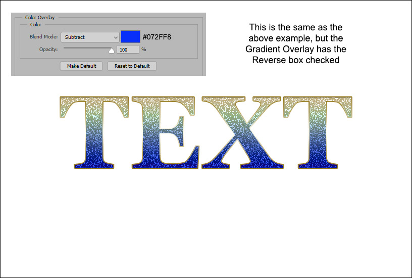 Sparkly Text Effect - Example 5