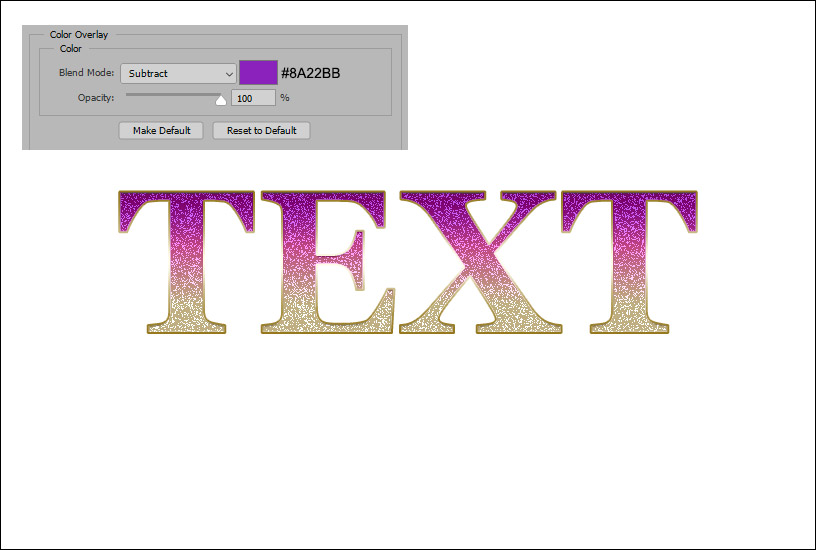 Sparkly Text Effect - Example 6