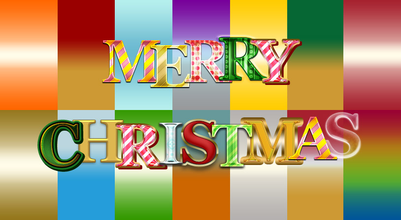 Christmas Text Styles & Gradients for Photoshop