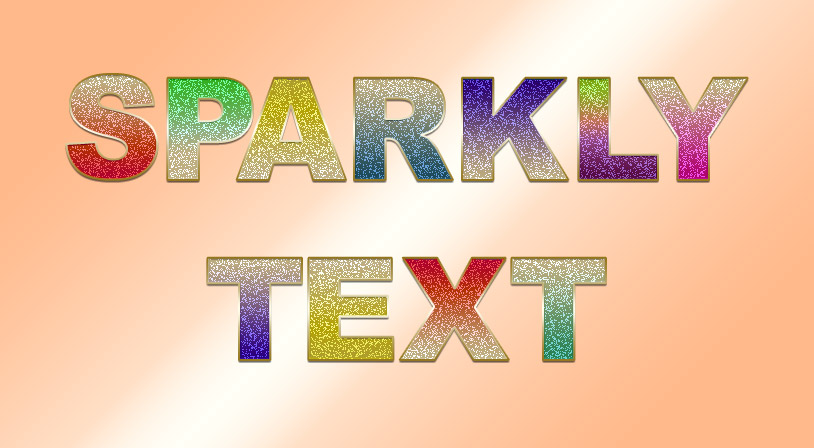 Sparkly Text Effect Photoshop Tutorial