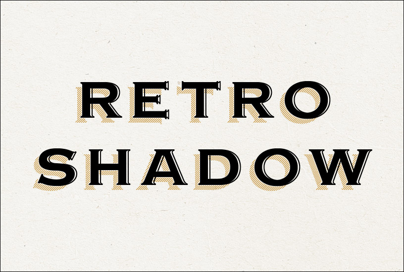 Retro Shadow Text Effect - Centre Words