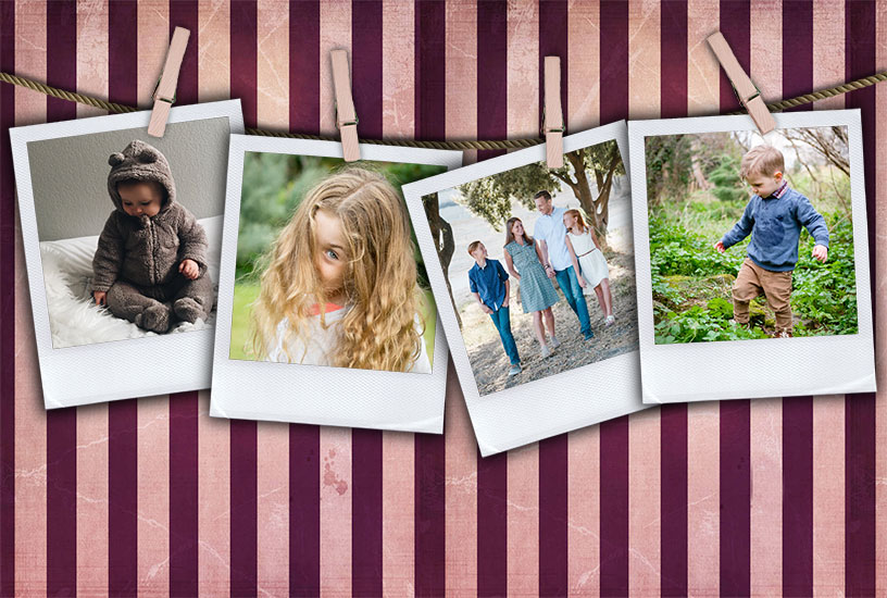 Pegged Photos Template - Alternative Background