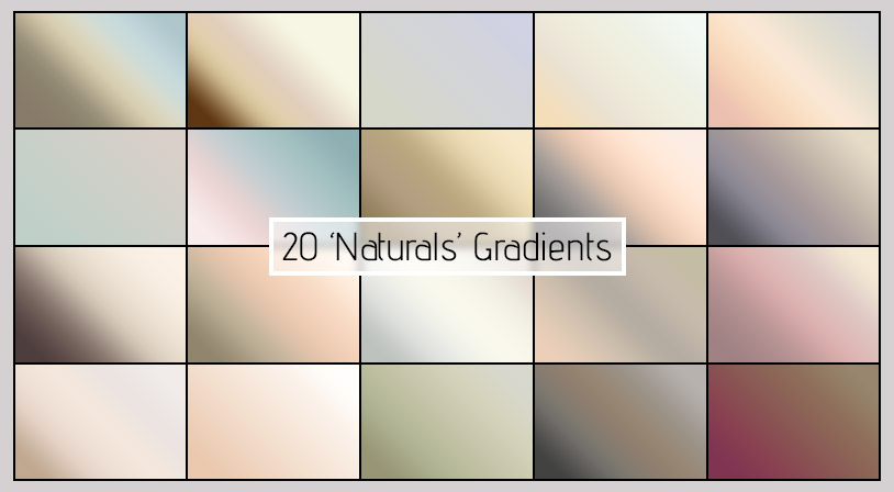 Naturals Gradients for Photoshop