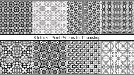Intricate Pixel Patterns for Photoshop
