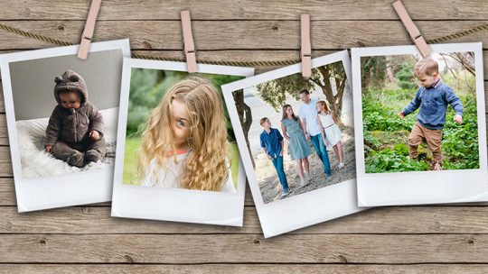 Pegged Photos Template – Free Download