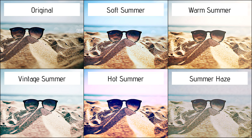 Summer Actions Set for Photoshop