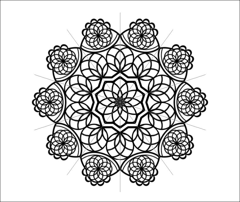 Create a Simple Mandala Completed