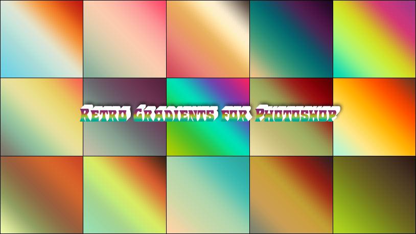 Retro Gradients for Photoshop