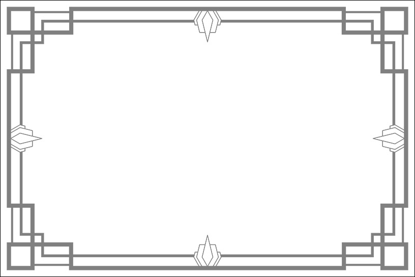 Art Deco Frame 7