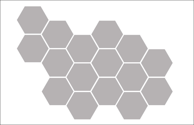 Hexagons Without Stroke