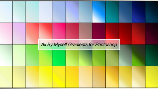 All By Myself Gradients for Photoshop