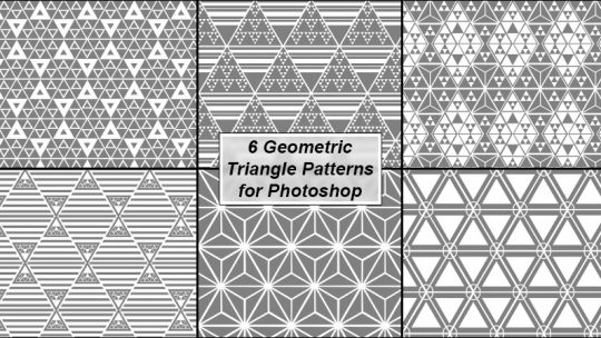 Geometric Triangles Patterns for Photoshop