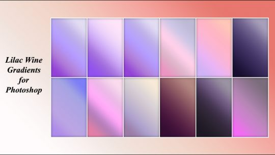 Lilac Wine Gradients for Photoshop