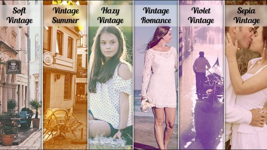 6 Vintage Actions for Photoshop